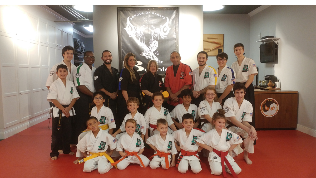 group of Bushido Karate students and teachers