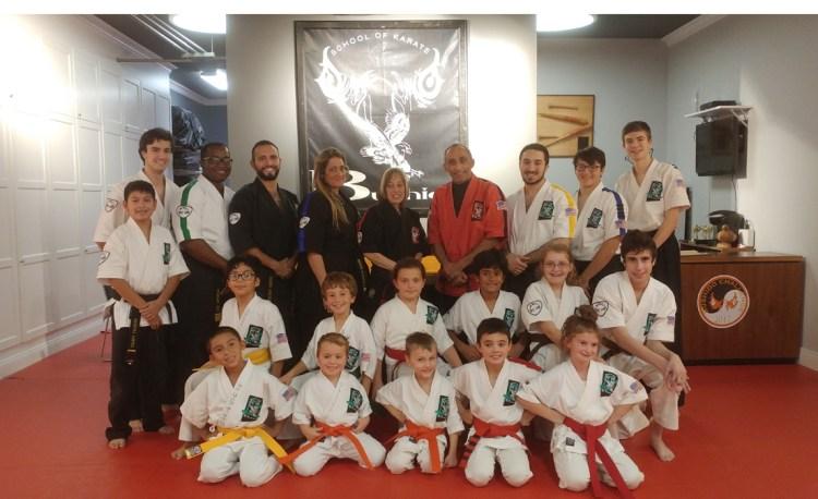 group of Bushido Karate students and teachers