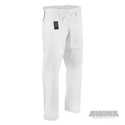 white karate pants