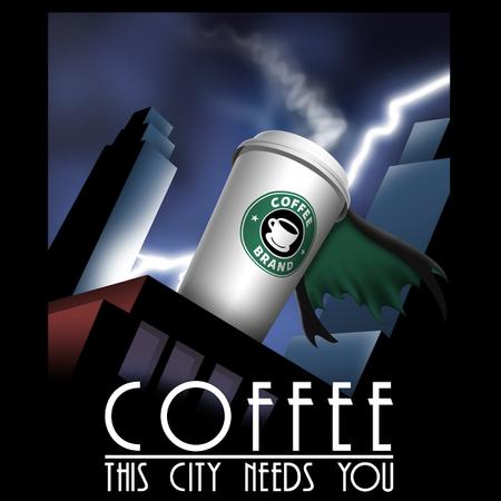 Caf'man appelle à l'aide et lance son caf'signal !!