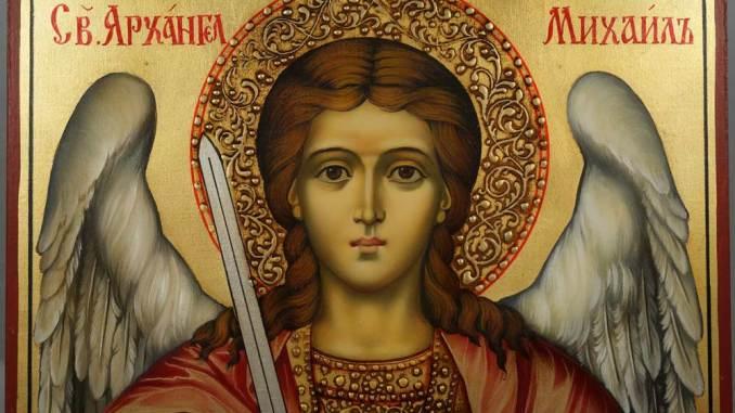 St. Michael haloed
