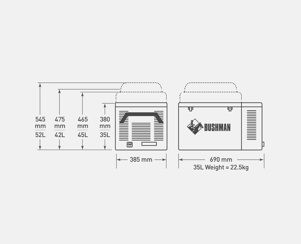 medium resolution of original bushman fridge 35l original bushman spec diagram