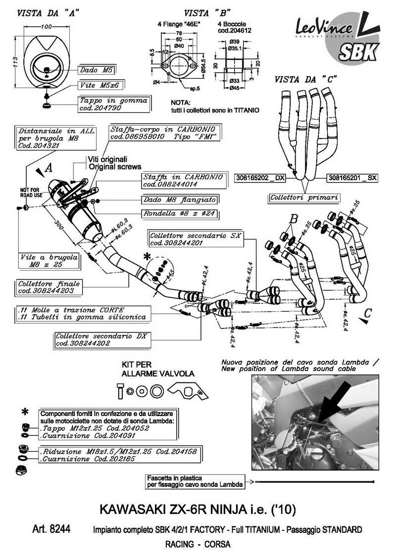 Tłumik wydech Leo Vince NINJA ZX-6R SBK Corsa