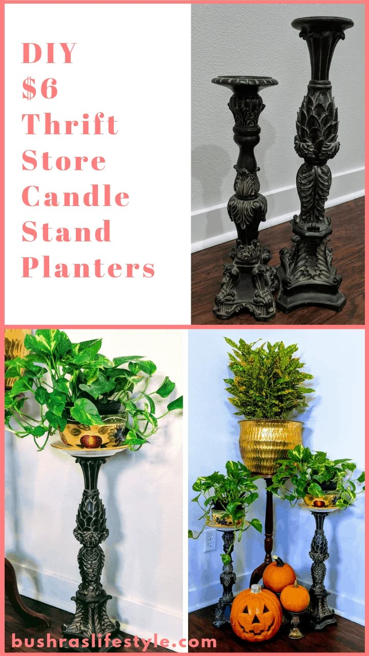 $6 Candle Stands Turned into DIY beautiful planters (1)
