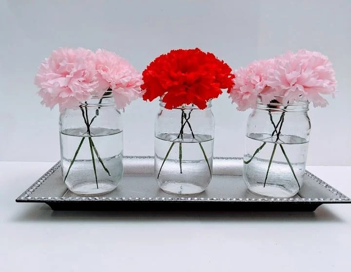 Mason Jar flower holders