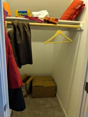 coat closet before