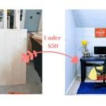 DIY Computer Desk Under $50