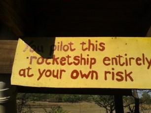 Rocket toilet user's instructions.