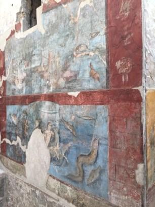 Frescoes at Pompeii.