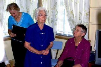 Norma Nord speaks at Bert's wake