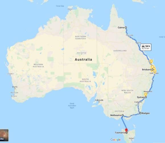 オーストラリアをロードトリップ