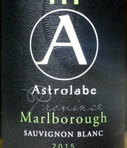 Astrolabe Sauvignon Blanc 2015; recommended by Oz Clarke as one of the top Marlborough producers; this is a concentrated, yet refined Sauvignon Blanc with beautiful balance. Made from free-run juice by talented wine maker Simon Waghorn. Top kiwi Sauvignon Blanc at a great price.