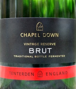 Chapel Down Brut Reserve; terrific English Sparkling Wine from grapes grown in Sussex and Kent. Excellent value fizz.