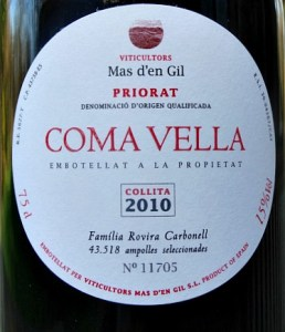 Stunning Priorat Mas D'en Gil Coma Vella 2010; silky and complex. Great value from Bush Vines