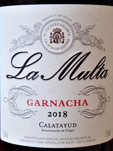"""El Escoces Volante La Multa 2018 """"One of the many superb Garnacha bottlings from the flying Scotsman, Norrel Robertson MW., soft and generous in feel with abundant fresh red fruit, old-vine depth of herbal freshness."""" Decanter March 2020 An exuberant red; brilliant value from Bush Vines"""