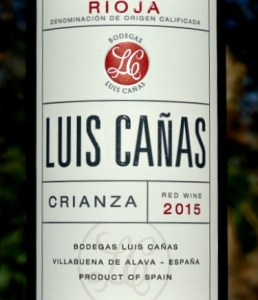 Luis Canas Crianza 2015 rich, concentrated black fruit and beautifully balanced. This elegant Rioja Crianza from a top producer is more like a Reserva in style. Complex and long; great value from Bush Vines.