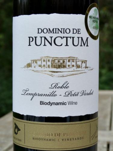 Dominio de Punctum Roble 2015: terrific blend Tempranillo & Petit Verdot; organic and biodynamic; GOLD Medal Challenge Millesime Bio 2018, International Organic Wine Award