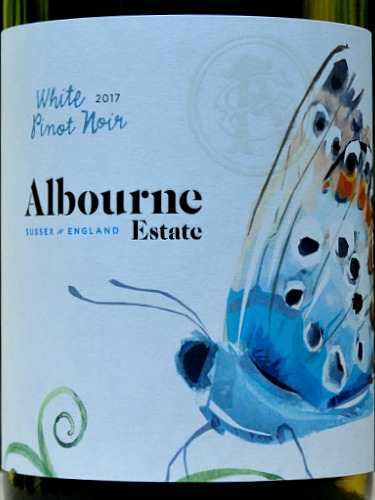 Albourne Estate White Pinot Noir 2017: stunning, unusual English White Wine from West Sussex. Silver Medal winner: one of our most popular English Wines. This is amazing quality White Pinot Noir.