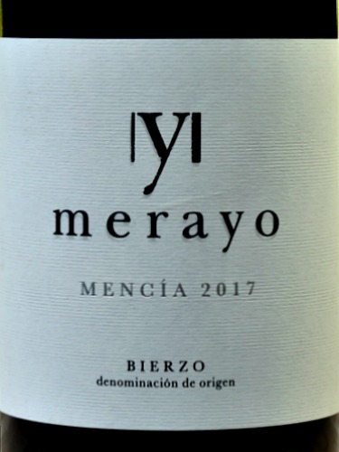Merayo Mencia 2017; delicious Mencia often called the Pinot Noir of Spain. Like Cabernet Franc; smooth, fresh cherry fruit flavours predominate. Brilliant value wine.
