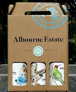 Albourne Estate Wine Gift Box - fantastic English Wines from West Sussex in a lovely gift box; perfect Christmas or Birthday Present
