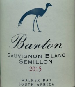 IWSC Gold Medal Winner: Barton Estate Sauvignon Blanc/Semillon 2015 is a stunning dry white wine. Overall balance of pure tropical fruit, tangy citrus and great length is impressive. Top white wine blend from South Africa.