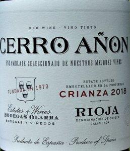Cerro Añon Crianza 2018 is classic Rioja Crianza. Attractive, fruity and nicely textured, with subtle vanilla oak. 90 points Tim Atkin MW. Fantastic price at Bush Vines.