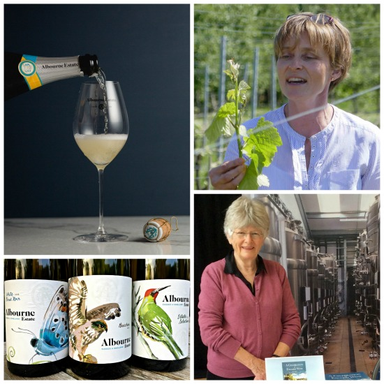 English Wine Tasting at Tuppenny Barn 30 June 2018 with top Sussex producer Alison Nightingale of Albourne Estate, West Sussex. Hear what inspired Liz Sagues, Chichester author, to write her latest book A Celebration of English Wine. Taste a stunning line-up of Sparkling & Still Winei and a Vermouth.