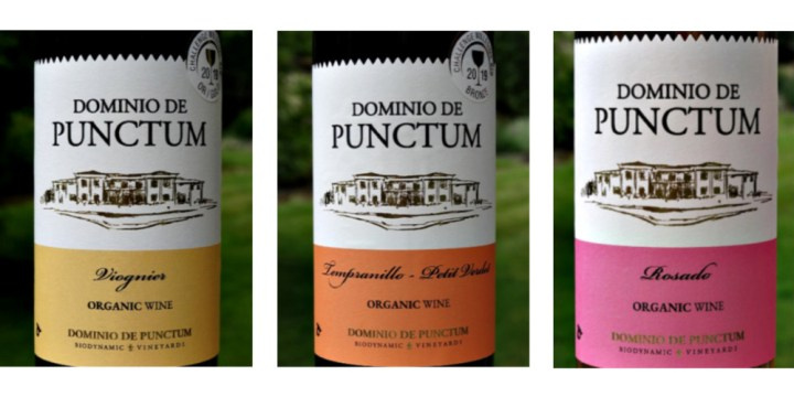 Organic and Biodynamic Wines from Dominio de Punctum; fantastic quality and value; delicous viognier, ravishing blush rose, stylish Tempranillo/Petit Verdot. Expressive wines with abundant flavour.