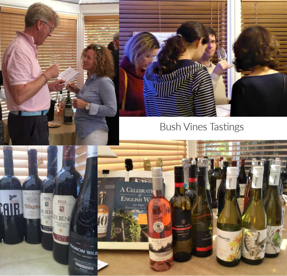 Spring into Wine Tasting at Bush Vines 21 and 22 March 2020 near Emsworth: Near Chichester: Discover new wines: Booking essential