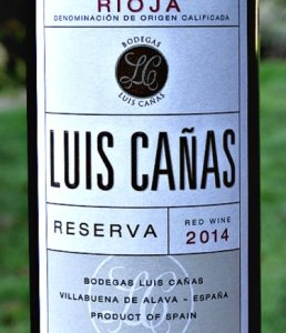 Luis Cañas Reserva 2014 is a stand out Reserva from top producer. Spicy, blackfruit aromas, layered complex flavours, beautifully balanced, structured, elegant. 90 points Tim Atkin MW Rioja Report 2020.