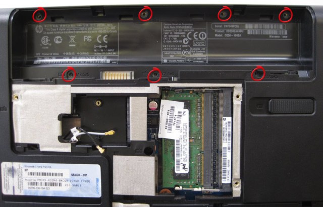 Make sure you get all 7 screws from within the battery compartment