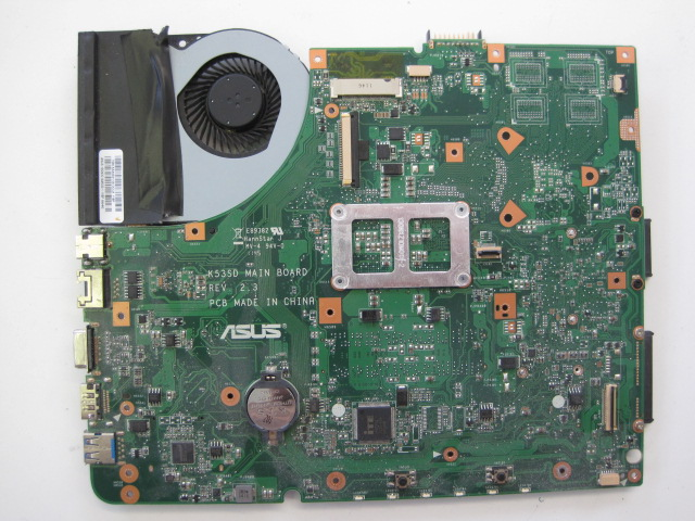 Top of the Asus K53E motherboard.