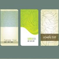 葉っぱのイラスト素材ナチュラルなフリーの名刺テンプレート(EPS)