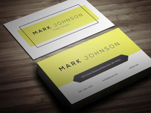 Clean-Individual-Business-Card-Template-580x435