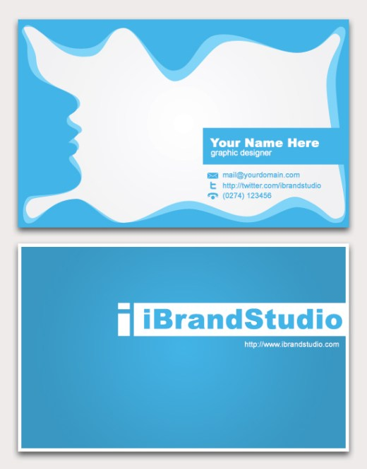 Freebie-Abstract-Blue-Business-Card-Template