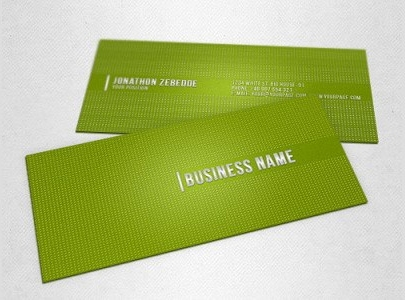 Green-Dotted-Business-Card-Template-Set