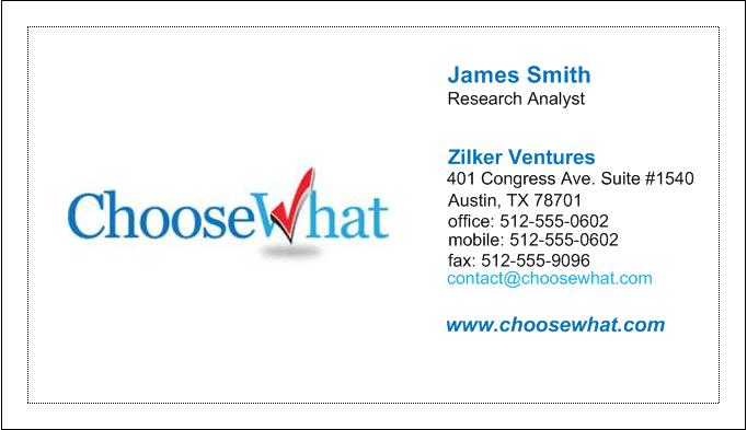 vistaprint business card template
