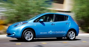 During 2011, purchases of any of the new all-electric cars, such as the Chevy Volt or Nissan Leaf (pictured here), qualify for up to a $7,500 federal tax credit.