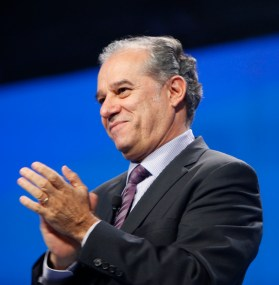 Eduardo Castro-Wright, vice chairman and CEO of Global Ecommerce of Wal-Mart Stores, Inc., at the 2011 Walmart Shareholders Meeting in Fayetteville, Arkansas.