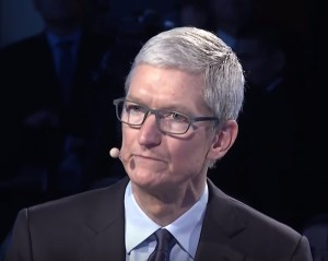 Apple CEO Tim Cook at Bloomberg's Global Business Forum (September 2017).