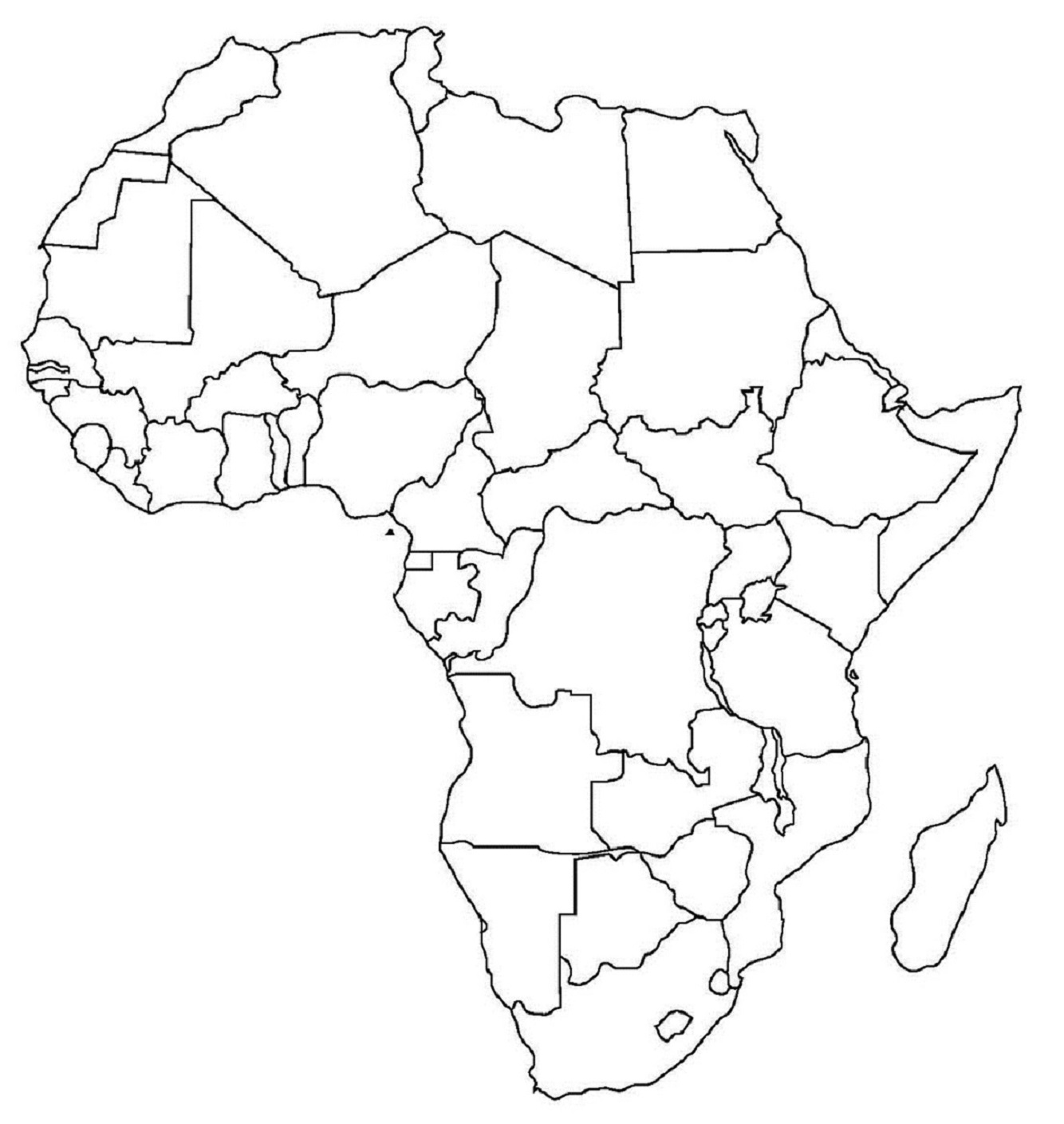 Blank Map Of Africa South Of The Sahara