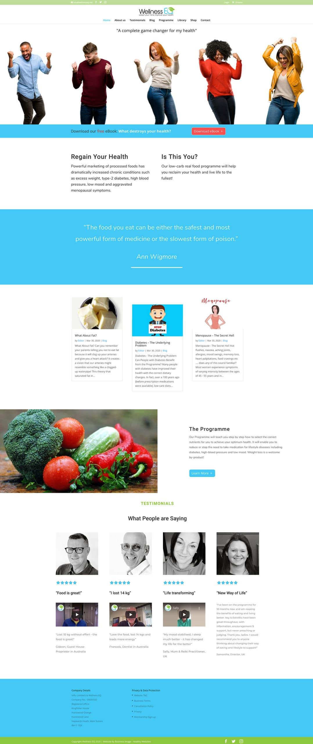 Wellness EQ Website