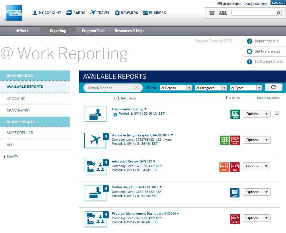 Work-Report | American Express