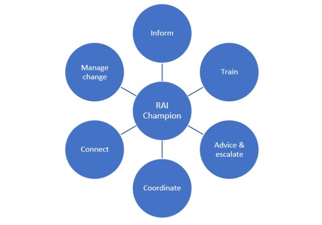 Figura 2: Responsabilidades del Paladín de la IA