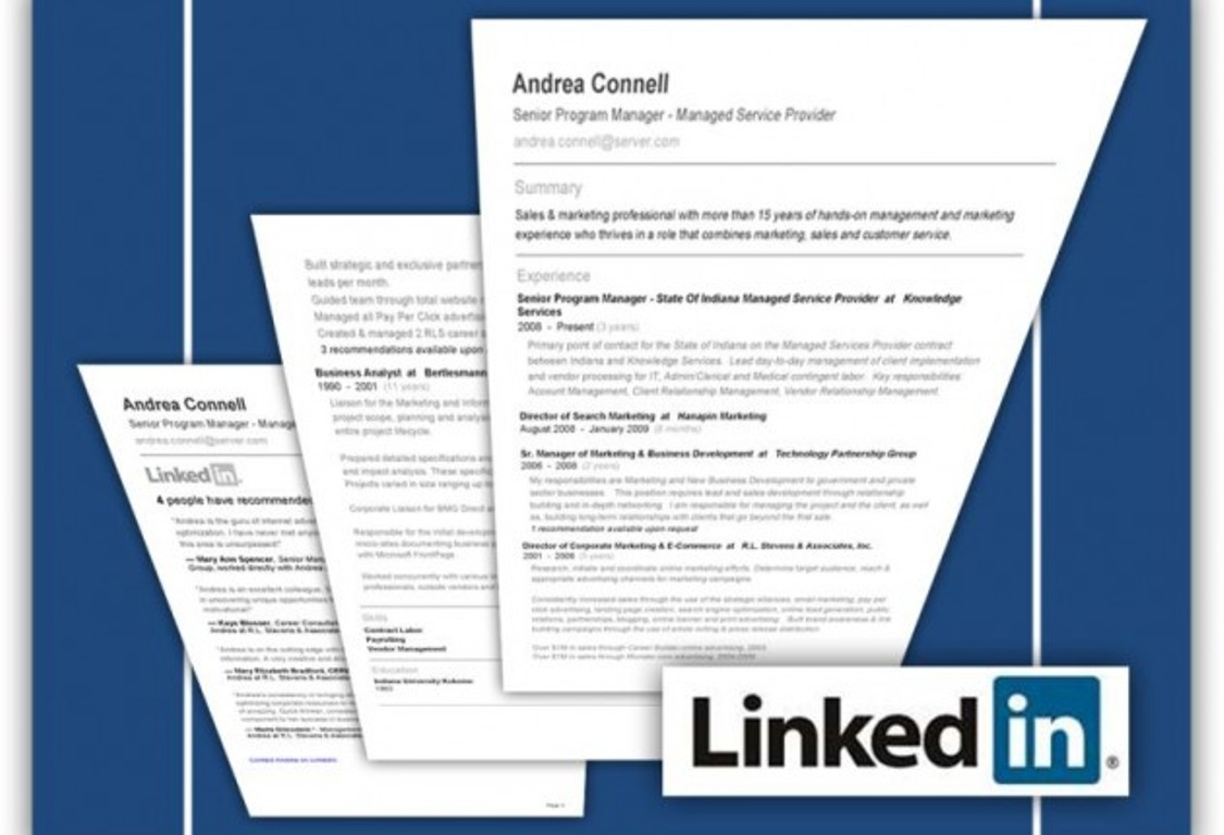 Print Resume From Linkedin 10 Ways To Turn Your Linkedin Profile Into A Job Finding