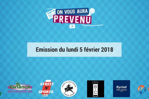 Emission du lundi 5 février 2018 (2)