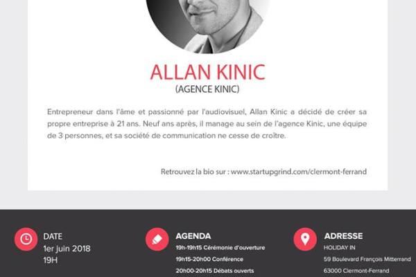 Startup Grind avec Allan Kinic