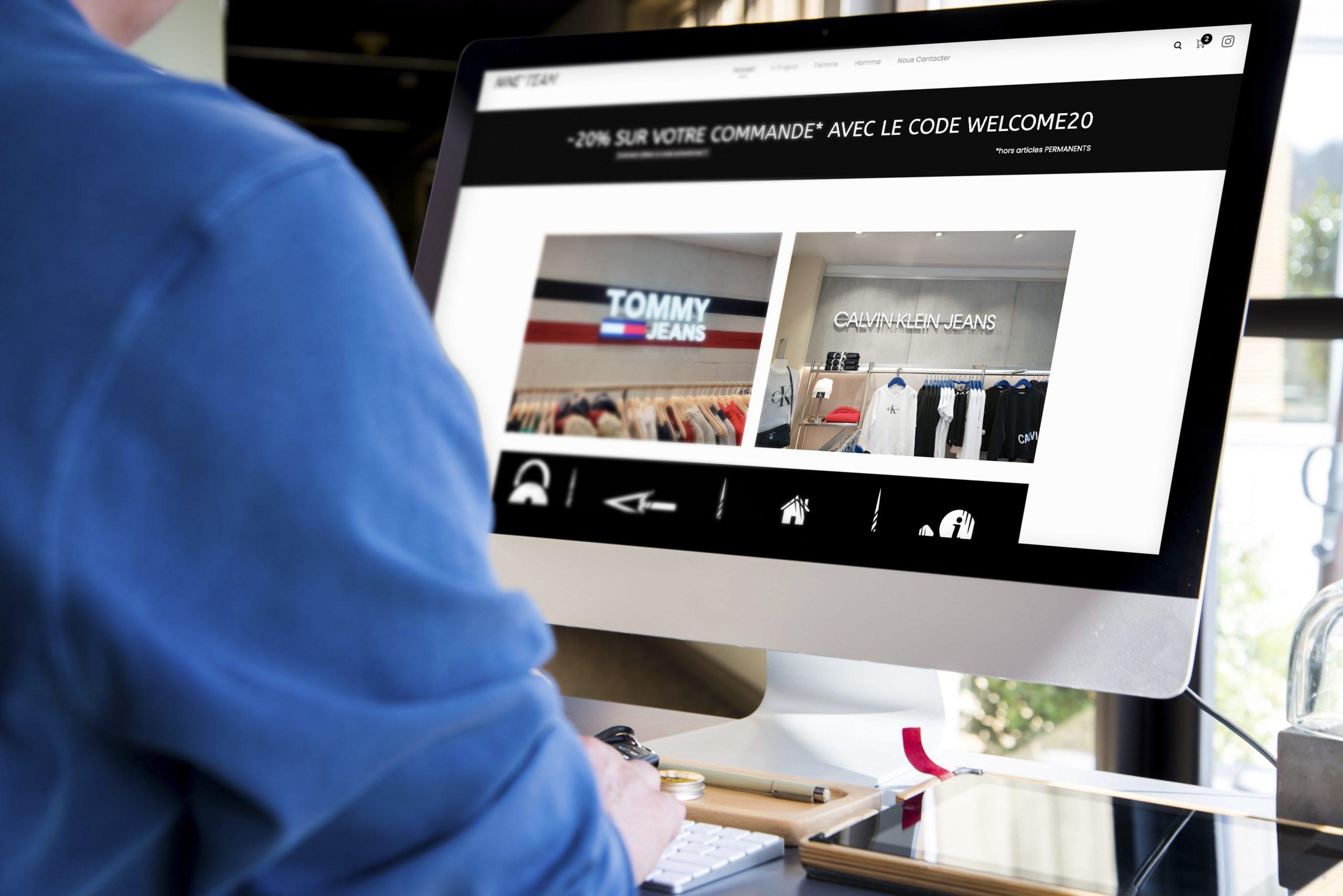 L'agence Kinic développe le site de la boutique Nine'Team de Clermont-Ferrand