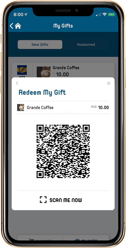 screenshot of the litt app on a mobile screen, QR Code voucher
