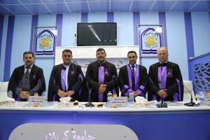 جانب من مناقشة طالب الماجستير (علي عايد ناصر العنزي)
